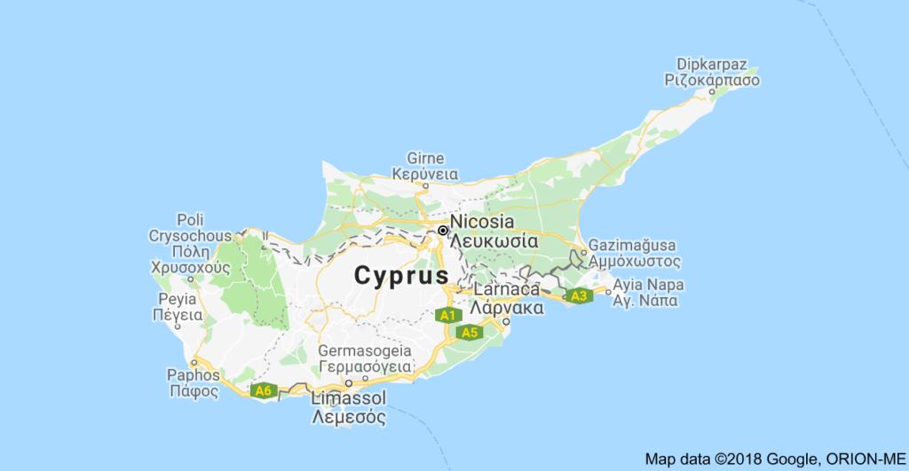 نقشه کشور قبرس