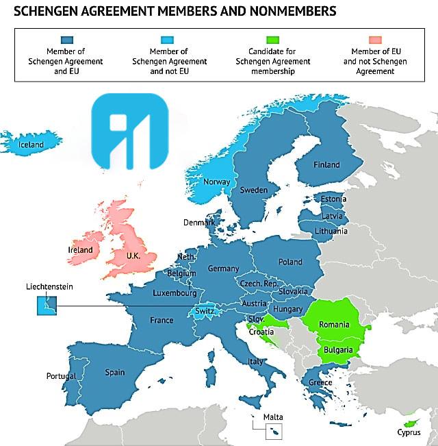 کشور های عضو شنگن